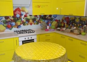 Кухня желтая фото