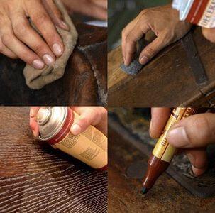 Как реставрировать трещину на мебели своими руками